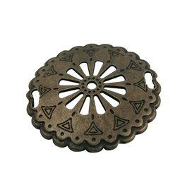 jolie Runde Platte westlichen 52mm antikes Gold