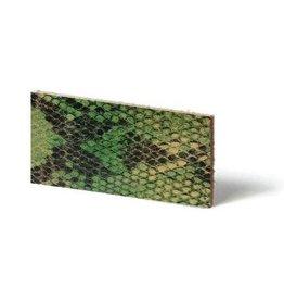 CDQ Plat leder Lime reptiel-snake 6mmx85cm