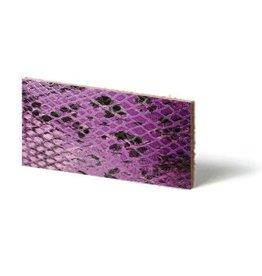 CDQ Plat leder Purple reptiel-snake 6mmx85cm