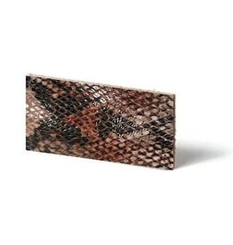 CDQ leather wristband strip Mocca reptiel-snake 10mmx85cm