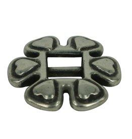 CDQ Slide buckle heart 6mm zilverkleur