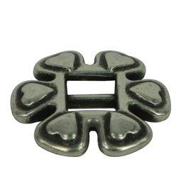 jolie Slide buckle heart 6mm zilverkleur