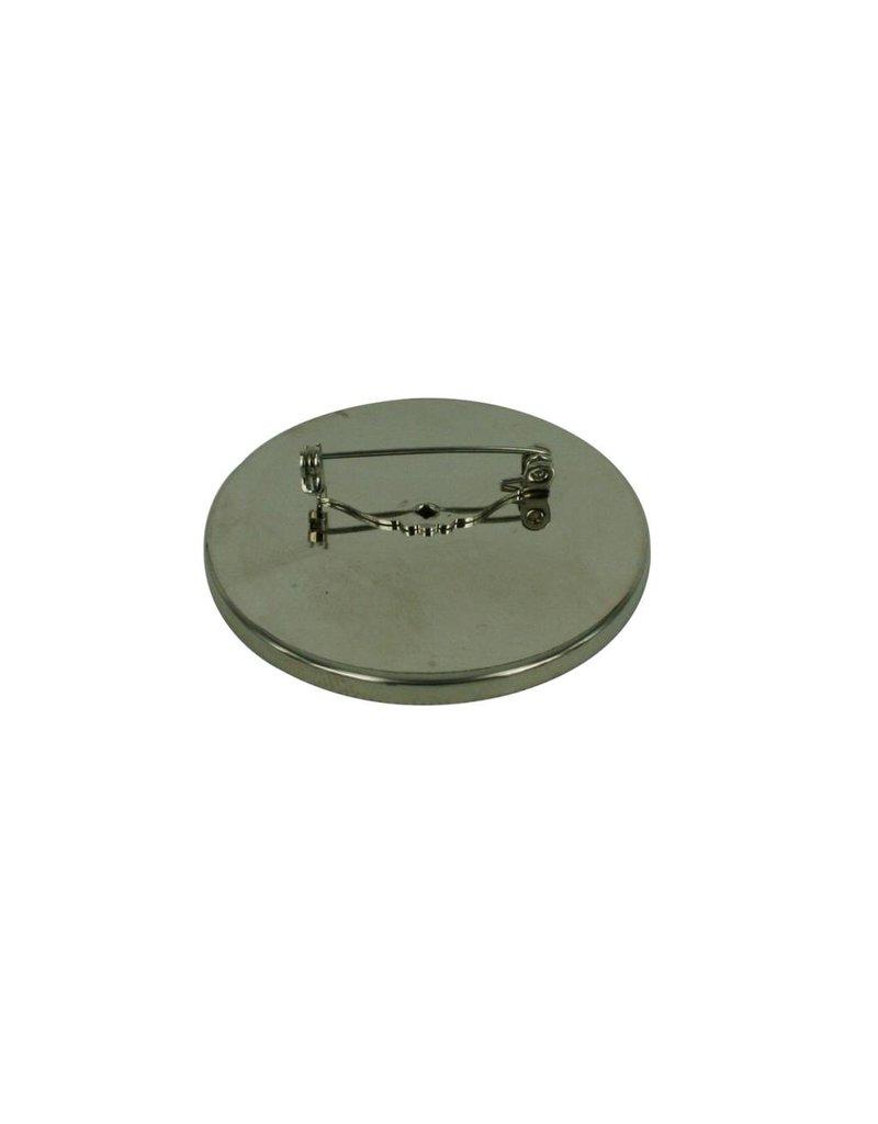 CDQ Brochespeld inleg randje rond 45mm platin