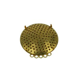 CDQ Sieve brooch 5 rings 35mm gold color 5 pcs