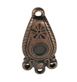 CDQ Hanger ovaal brons kleur.