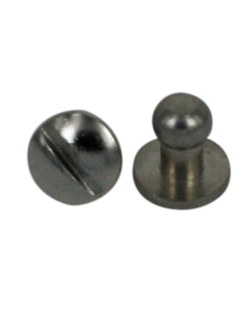 Lederarmband verschlüsse  CDQ Schraube Spike-Armband-Verschluss zur Cuoio 6x8mm Silber Farbe ...