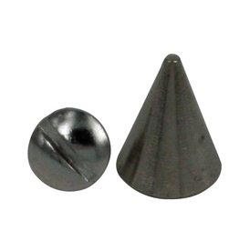 CDQ Schroef spike 8x13mm piramide zilverkleur