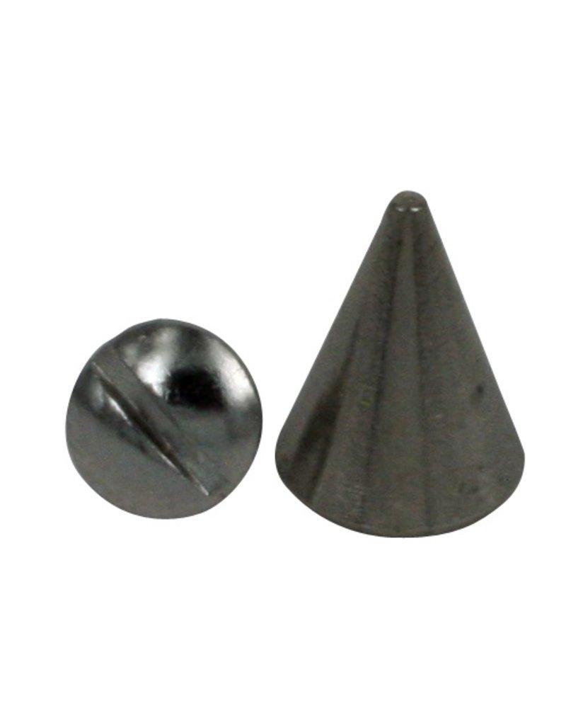 CDQ Schraubenspitze 8x13mm Silber Pyramide