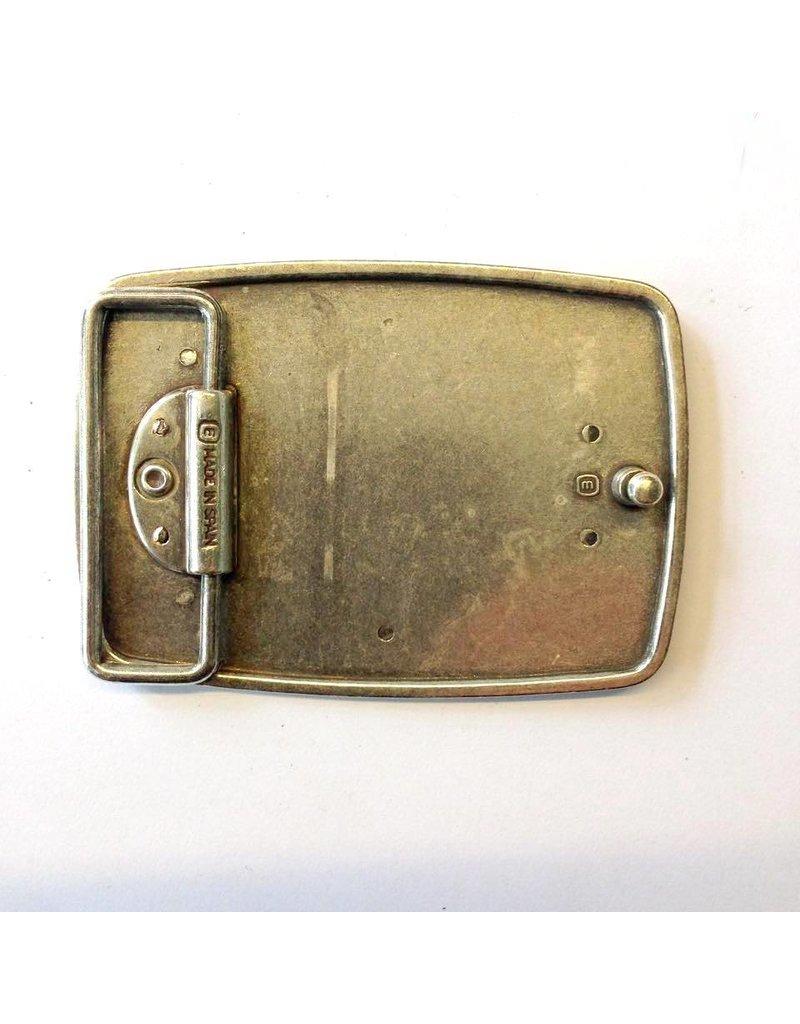 CDQ Gürtelschnalle westlichen 9cmx6.5cm länglich