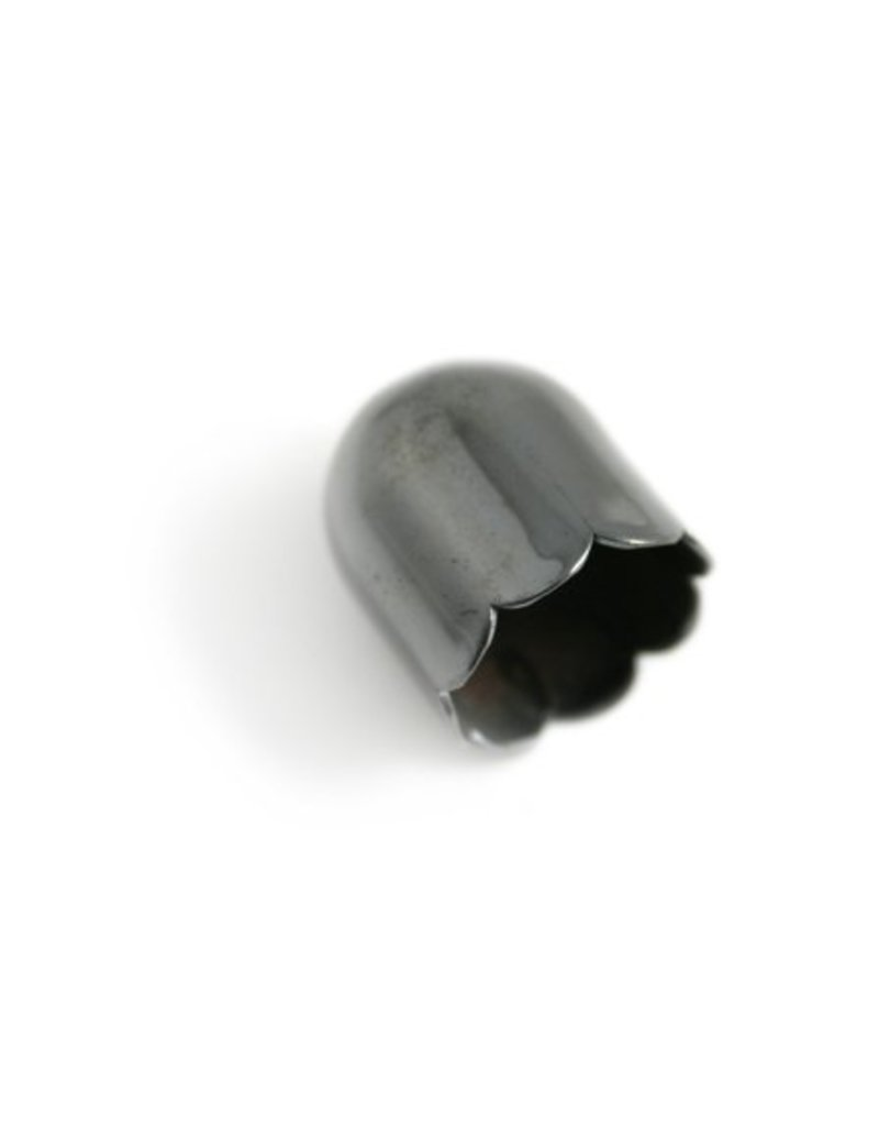 CDQ Kapje 13mm platin zilver p. 30 stuks