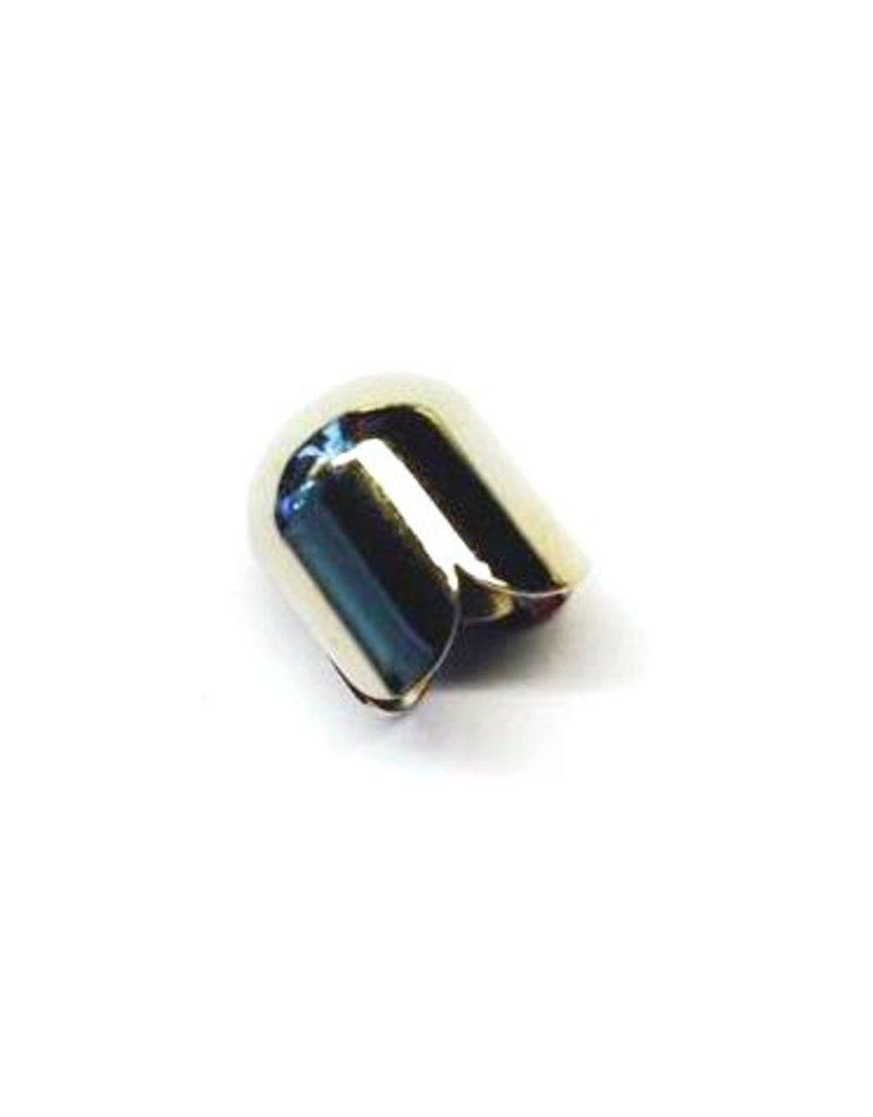 CDQ sieraden kapje 9mm platin zilver per 50 stuks