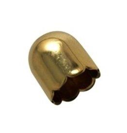 CDQ Schmuck Kappe 13mm Goldfarbe 30 Stück
