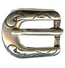 CDQ Gesp western 6mm zilverkleur