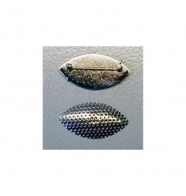 CDQ Zeef broche marquise vorm 45x23mm zilverkleur per 5 stuks