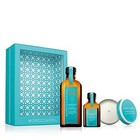 MOROCCANOIL® Home & Away Set 2-teilig NORMAL 100 ml + 25 ml + Duftkerze