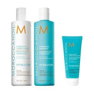 MOROCCANOIL® Feuchtigkeitsshampoo + Conditioner + Leichte Feuchtigkeitsmaske