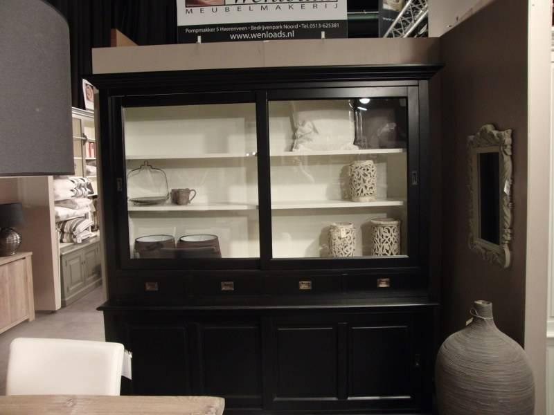 winkelkast 215cm zwart