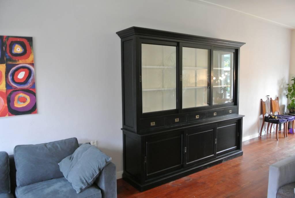 Winkelkast 255cm breed Zwart
