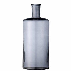 Bloomingville vaas zwart transparant glas 30cm hoog