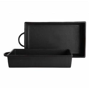 Nicolas Vahé ovenschaal zwart keramiek, set van 2