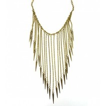 Ketting Spikes Brons