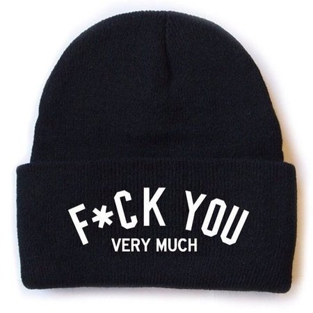 F*CK YOU VERY MUCH Beanie Muts