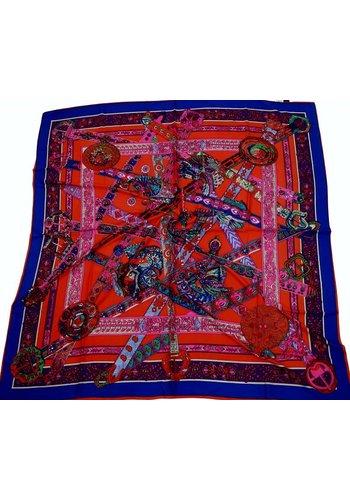 Sjaal met dessin 100% zijde