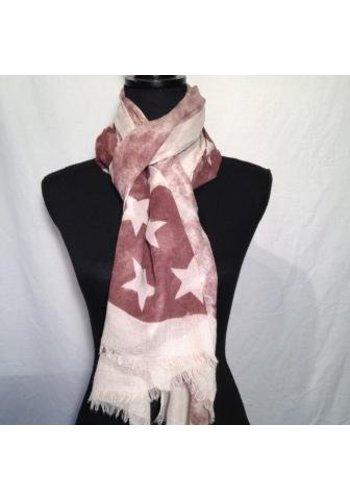 Sjaal rood ster