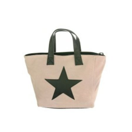 "Suede tas ""Rough Star"" lichtroze"