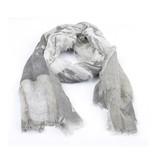 Sjaal licht grijs rafels