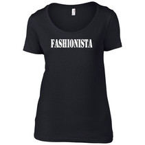 It-Shirt zwart fashionista