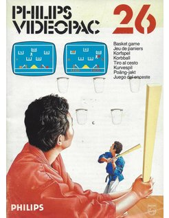 PHILIPS VIDEOPAC G7000 GAME 26 - BASKET GAME