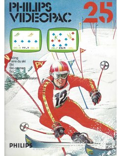 PHILIPS VIDEOPAC G7000 GAME 25 - SKIING