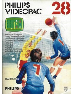 PHILIPS VIDEOPAC G7000 GAME 28 - ELECTRONIC VOLLEYBALL