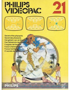 PHILIPS VIDEOPAC G7000 GAME 21 - SECRET OF THE PHARAOHS