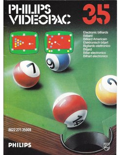 PHILIPS VIDEOPAC G7000 GAME 35 - ELECTRONIC BILLIARDS