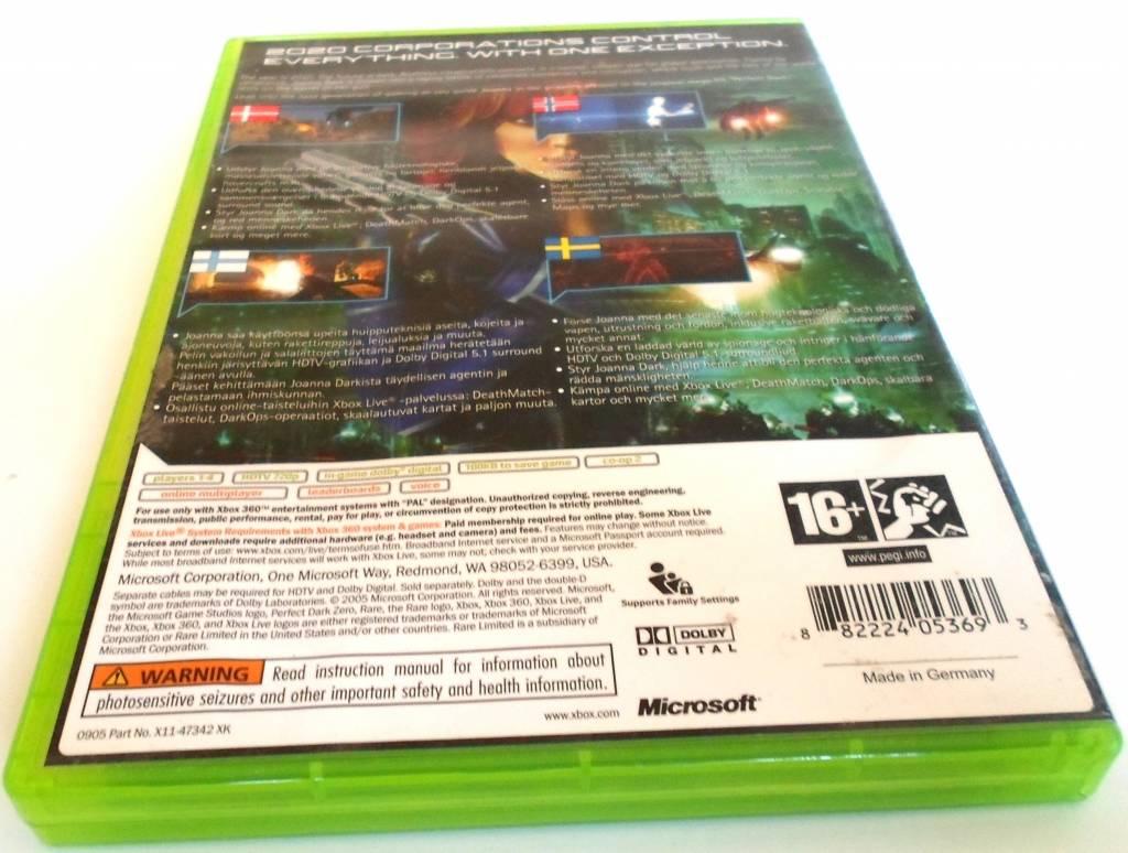 PERFECT DARK ZERO for Xbox 360 - manual in Scandinavian languages ...