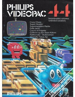 PHILIPS VIDEOPAC G7000 GAME 44 - CRAZY CHASE