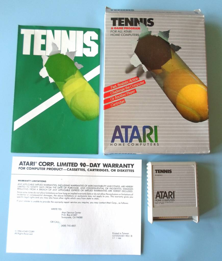 TENNIS for Atari 400 / 800 / XE / XL home computers - with box &