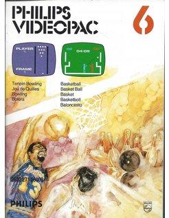 PHILIPS VIDEOPAC G7000 GAME 6 - TEN PIN BOWLING - BASKETBALL