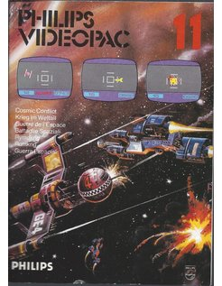 PHILIPS VIDEOPAC G7000 GAME 11 - COSMIC CONFLICT