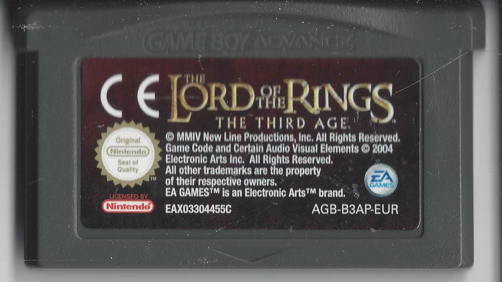 Lord Of The Rings Fellowship Game Boy Advance