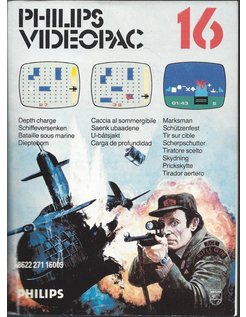 PHILIPS VIDEOPAC G7000 GAME 16 - MARKSMAN - DEPTH CHARGE