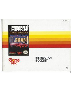 MANUAL for JEOPARDY - NINTENDO NES - English
