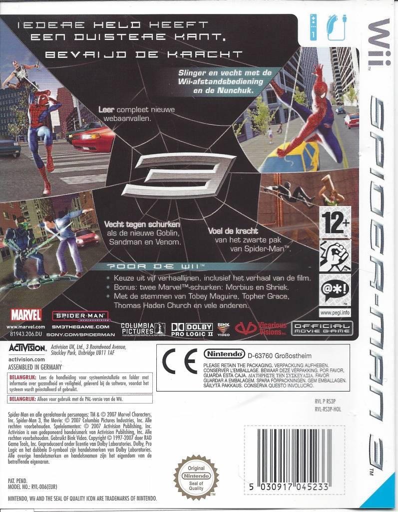 spider-man 3 für nintendo wii - weltweiter versand - passion for games