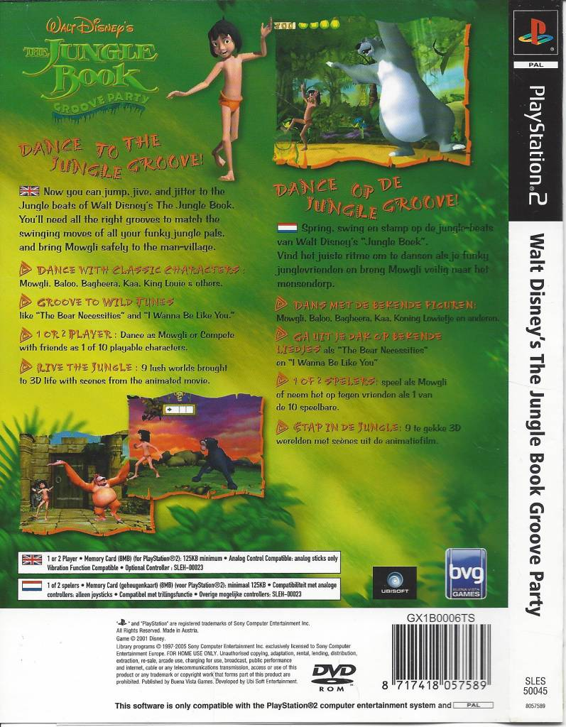 Gameboy color jungle book - The Jungle Book Groove Party For Playstation 2 Ps2