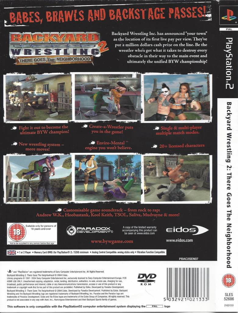 backyard wrestling 2 there goes the neighborhood for playstation 2