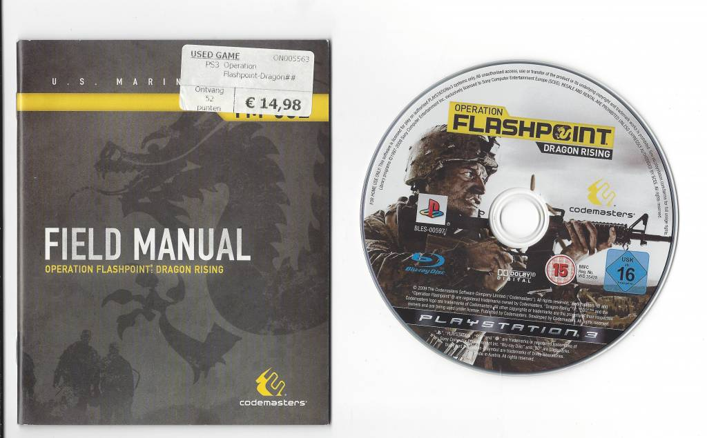 operation flashpoint dragon rising for playstation 3 ps3 passion rh gamewebshop eu playstation 3 instruction manual online playstation 3 instruction manual online