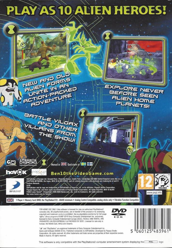 Ben 10 Alien Force Vilgax Attacks Xbox 360 Skachat Prakard