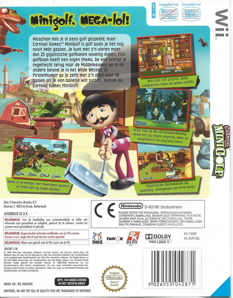 Carnival Games Mini Golf Fur Nintendo Wii Passion For Games